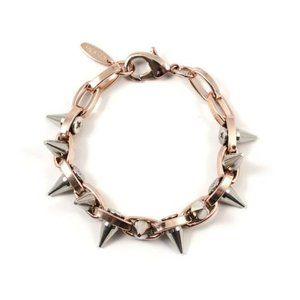 Joomi Lim Double Row Spike Bracelet - Rose Gold